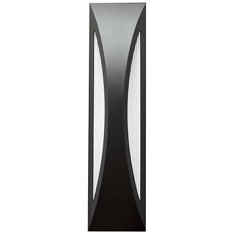 "Kichler Ceysa 24"" High Satin Black LED Outdoor Wall Light"