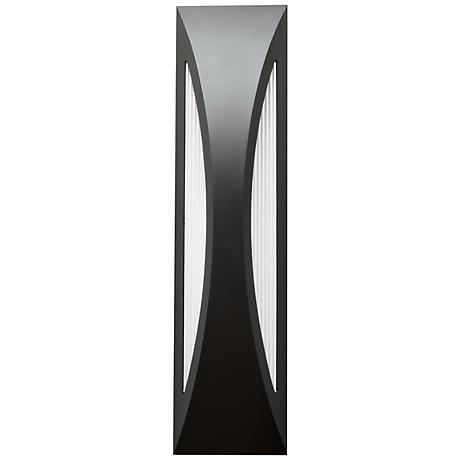 "Kichler Ceysa 24"" High Satin Black LED Outdoor Wall Light"