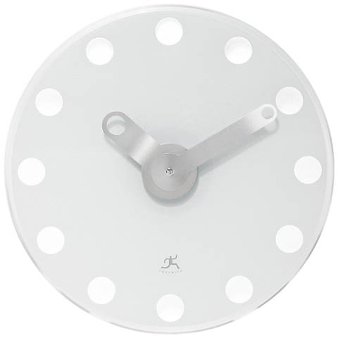 "Lila White Modern 14"" Round Wall Clock"