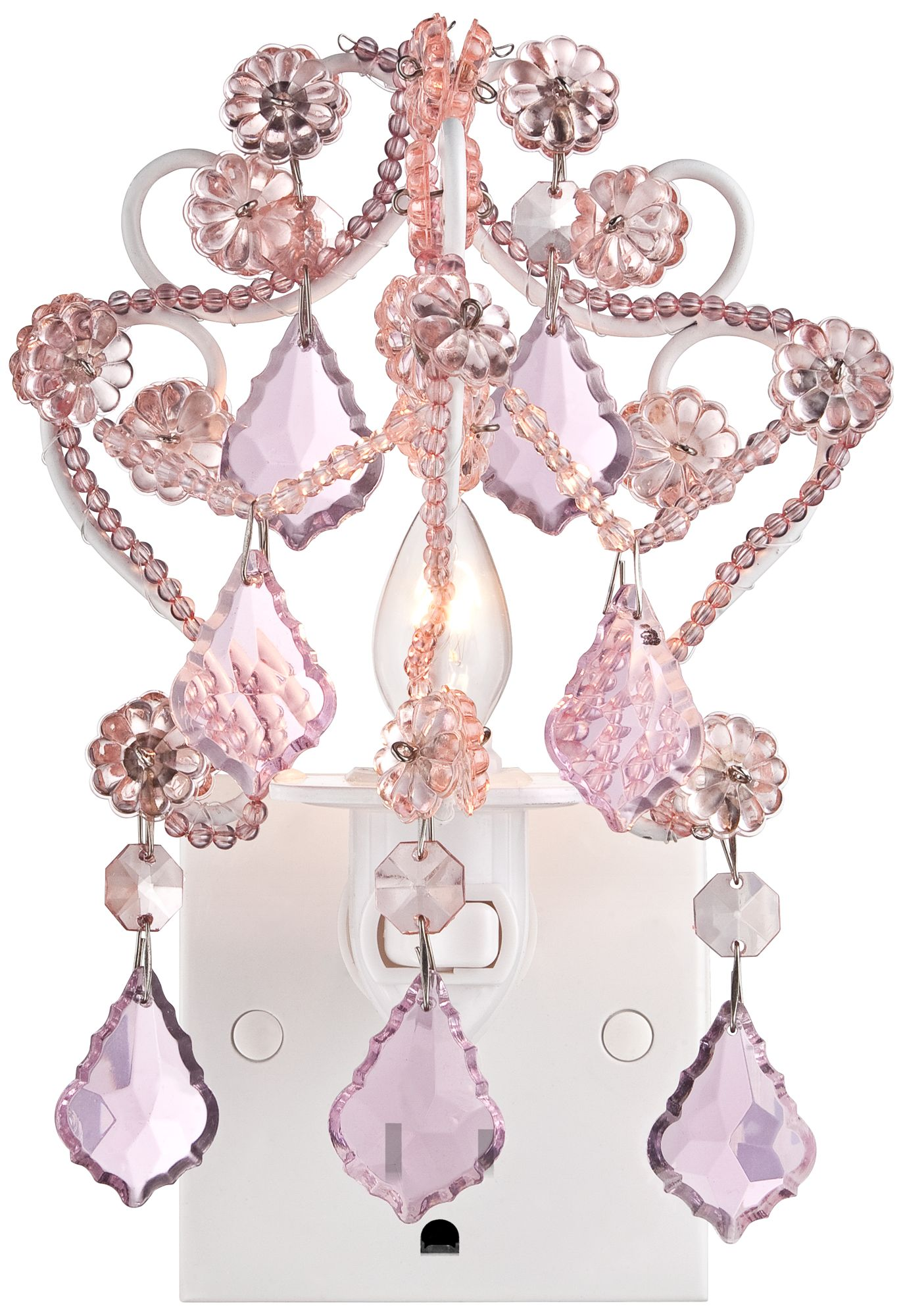 maize pink chandelier night light