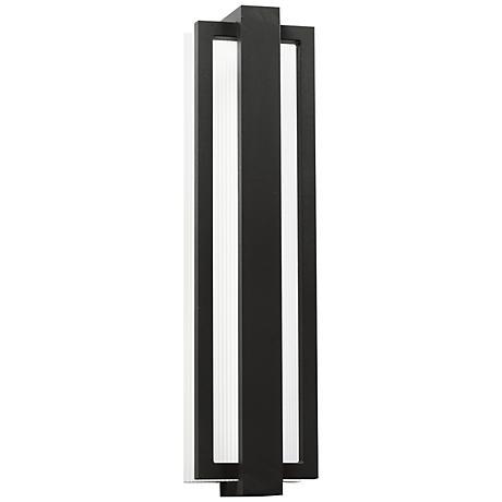 "Kichler Sedo 24 1/4"" High Black Outdoor LED Wall Light"