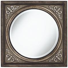 "Uttermost Ireneus 34"" Square Metal Wall Mirror"