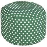 Surya Polka Dot Jelly Bean Green Round Pouf Ottoman