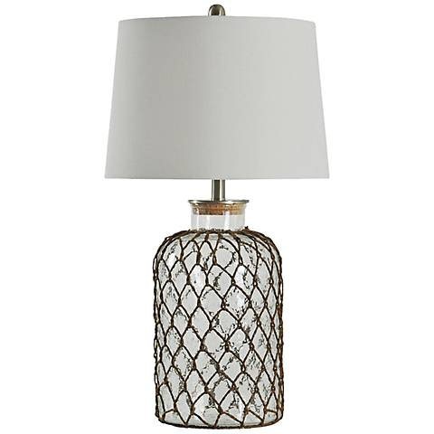 Seeded Glass Table Lamp 5R909 Lamps Plus