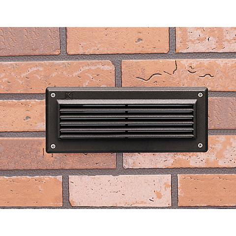 "Kichler 9 1/2""W 2700K LED Bronze Landscape Brick Light"