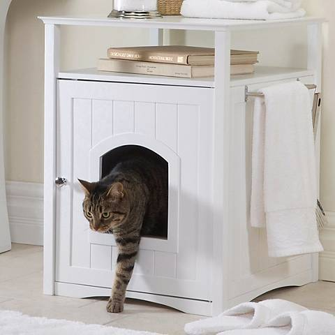White Pet Washroom and Pet House
