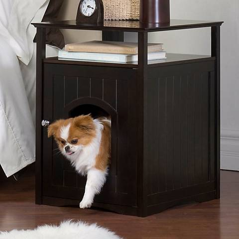 Espresso Brown Pet Washroom and Pet House