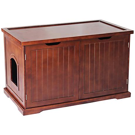 Walnut Brown Pet Washroom Bench