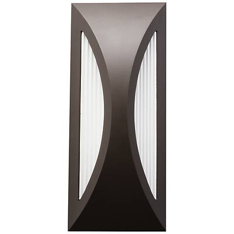 "Kichler Ceysa 12"" High Bronze LED Outdoor Wall Light"