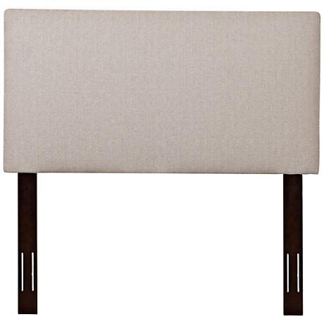 Klaussner Heron Denton Beige Fabric Upholstered Headboards