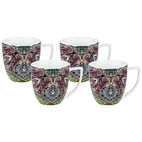Urbana Mint Porcelain Mugs Set of 4