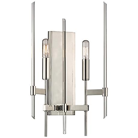 "Hudson Valley Bari 17 1/4""H Polished Nickel Wall Sconce"