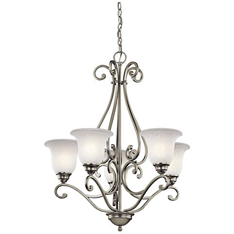 "Kichler Camerena 27"" Wide Brushed Nickel 5-Light Chandelier"