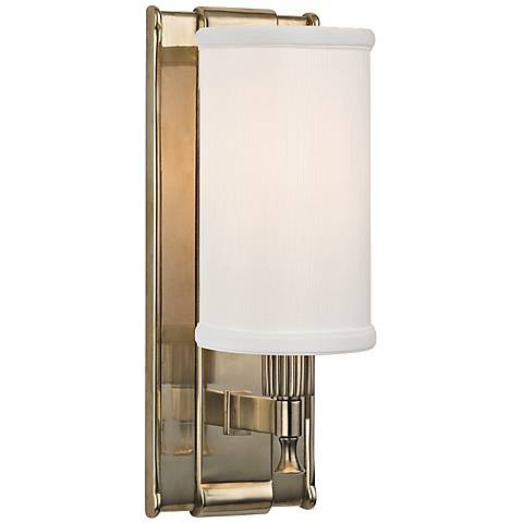 """Hudson Valley Palmdale 12"""" High Aged Brass Wall Sconce"""