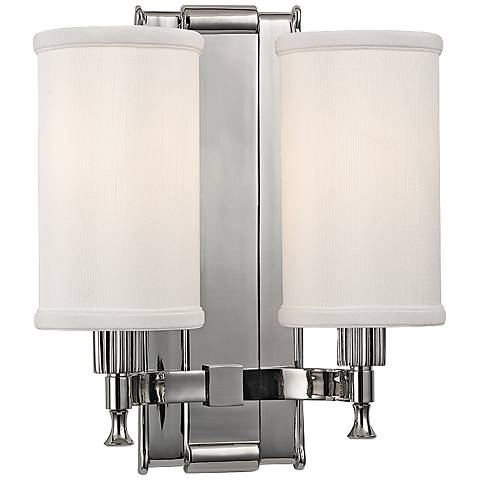 "Palmdale 12"" High 2-Light Polished Nickel Wall Sconce"