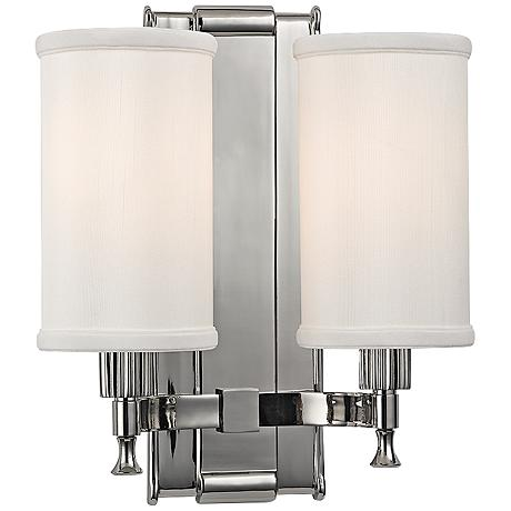 """Palmdale 12"""" High 2-Light Polished Nickel Wall Sconce"""