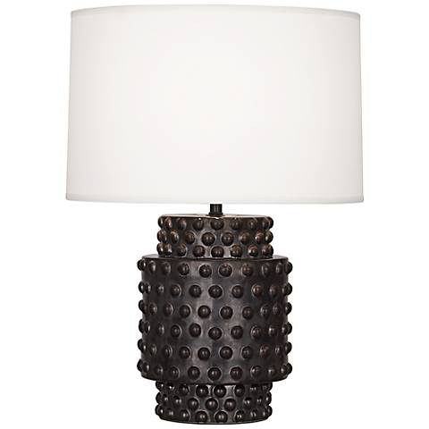 Robert Abbey Dolly Gunmetal Ceramic Short Accent Lamp