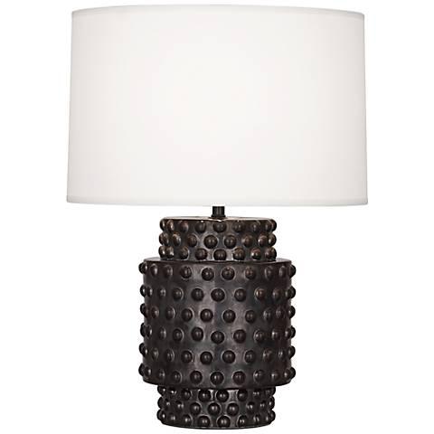Robert Abbey Dolly Gunmetal Ceramic Short Accent Lamp