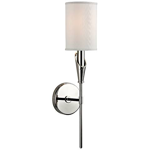 "Tate 19 3/4"" High Polished Nickel Wall Sconce"