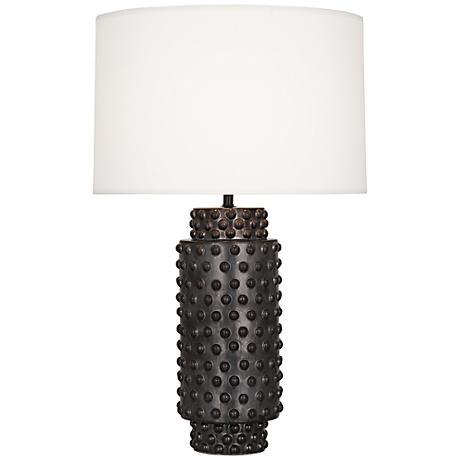 Robert Abbey Dolly Textured Gunmetal Ceramic Table Lamp