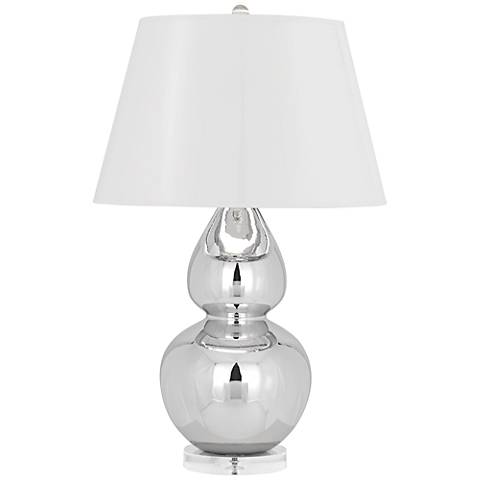 Robert Abbey Mercury Double Gourd with White Table Lamp