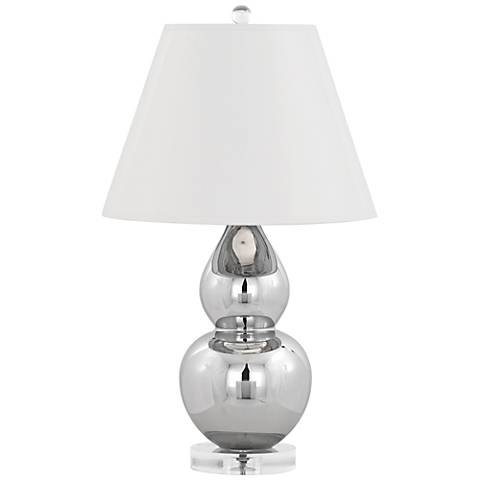 Robert Abbey Mercury Double Gourd with White Accent Lamp