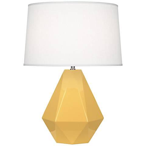 Robert Abbey Delta Sunset Yellow Ceramic Table Lamp