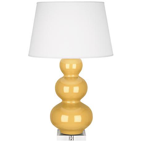 Robert Abbey Triple Gourd Sunset Yellow Buffet Lamp