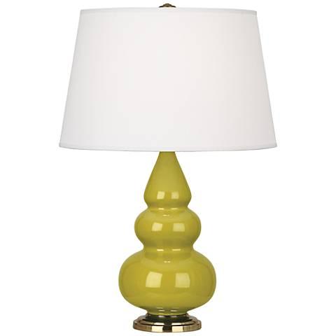 Robert Abbey Citron Glaze Triple Gourd Table Lamp