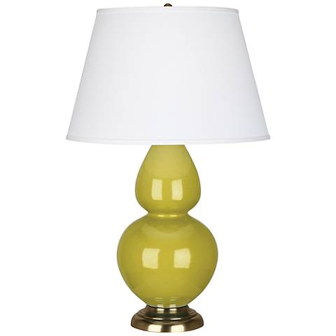 Robert Abbey Citron Ceramic and Brass Large Table Lamp