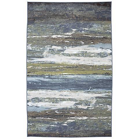 ARC Concord Abstract Shore Blue Spa Area Rug