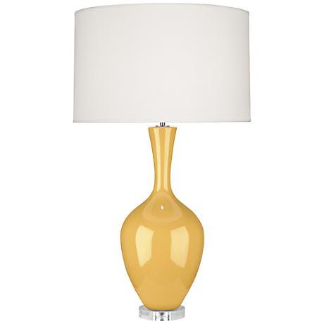Robert Abbey Audrey Sunset Yellow Ceramic Buffet Lamp
