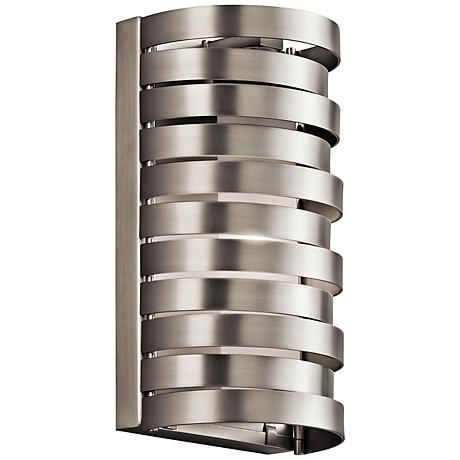 """Kichler Roswell 8 1/2"""" High Brushed Nickel Wall Sconce"""