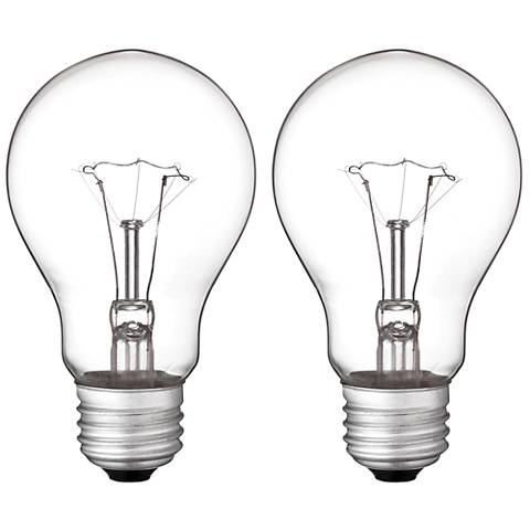 60 Watt A19 Vibration-Resistant Light Bulb 2 Pack