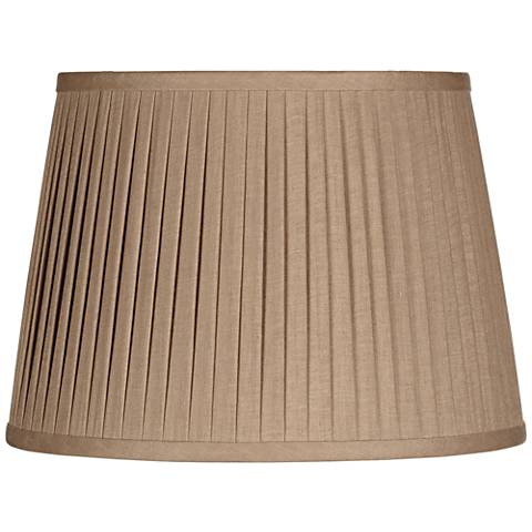 Taupe Linen Drum Knife Pleat Shade 11x14x10 (Spider)