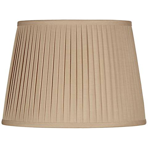 Beige Drum Knife Pleat Shade 13x16x10 (Spider)