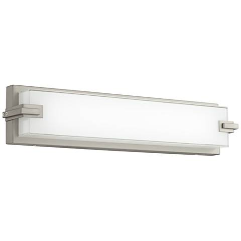 "Possini Euro Sven Brushed Nickel 20 1/2""H LED Wall Sconce"