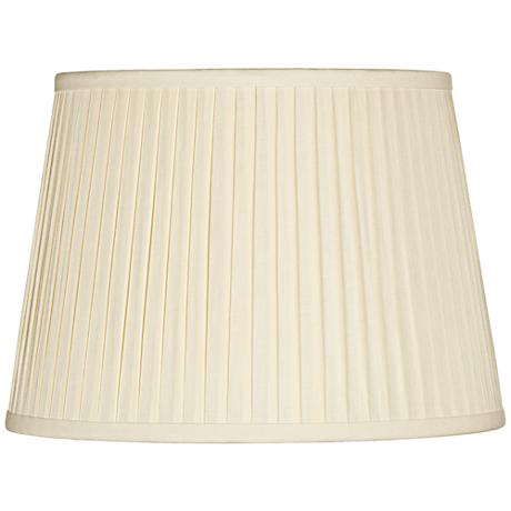 Eggshell Drum Knife Pleat Shade 14x17x11 (Spider)