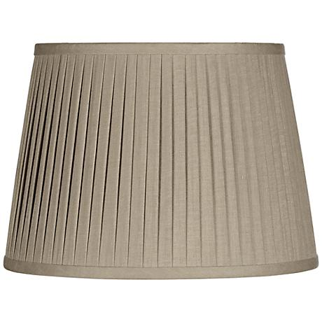 Taupe Drum Knife Pleat Shade 14x17x11 (Spider)