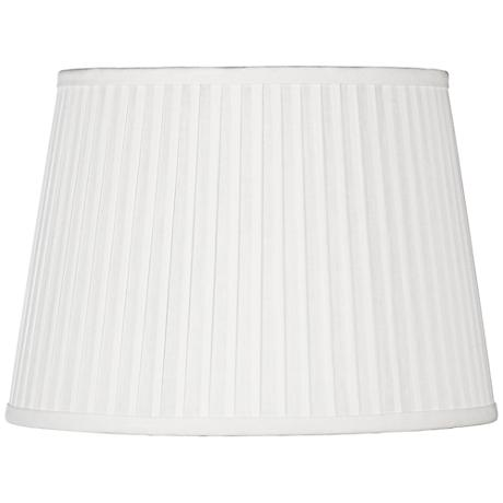 Off-White Drum Knife Pleat Shade 14x17x11 (Spider)