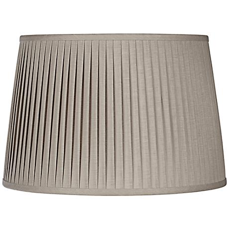 Gray Drum Knife Pleat Linen Shade 15x18x12 (Spider)
