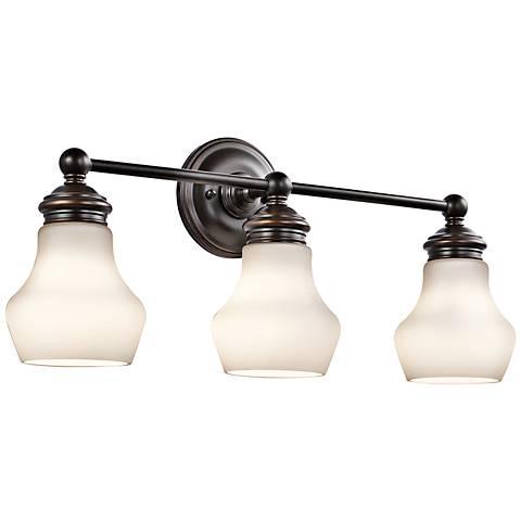 """Kichler Currituck 23 1/4"""" Wide Rubbed Bronze Bath Light"""