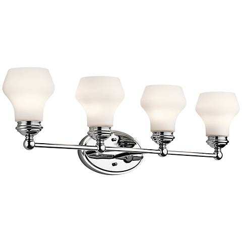 "Kichler Currituck 32 1/4"" Wide Chrome Bath Light"