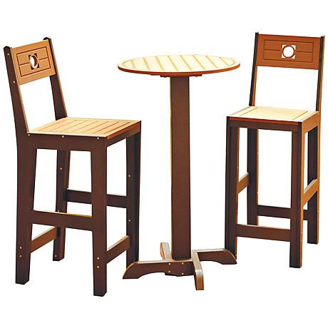 Calvin 3-Piece Two-Tone Outdoor Table and Chair Set