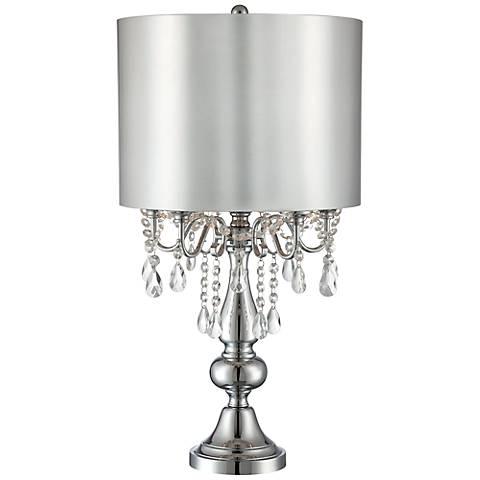 lite source lavache crystal table lamp 5t925 lamps plus. Black Bedroom Furniture Sets. Home Design Ideas