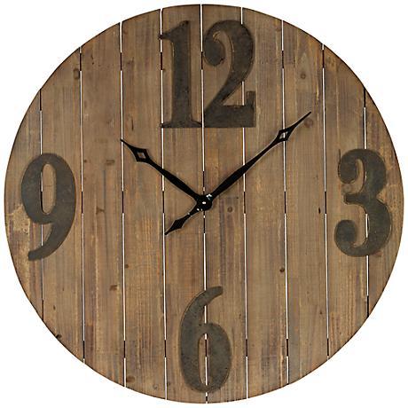 """Cooper Classics Mahdis 35 1/2"""" Round Wall Clock"""