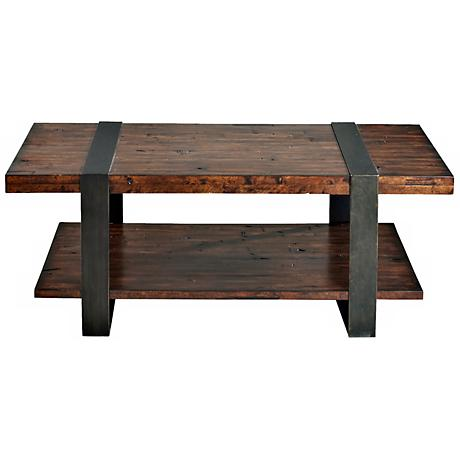 Klaussner Timber Forge Reclaimed Industrial Cocktail Table