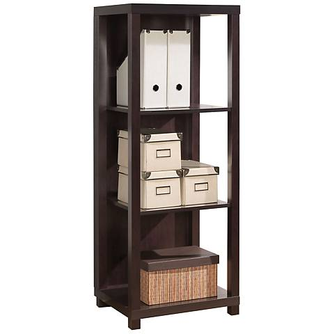 Carmeno 3-Shelf Espresso Bookcase