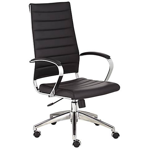Medina High Back Black Faux Leather Office Chair