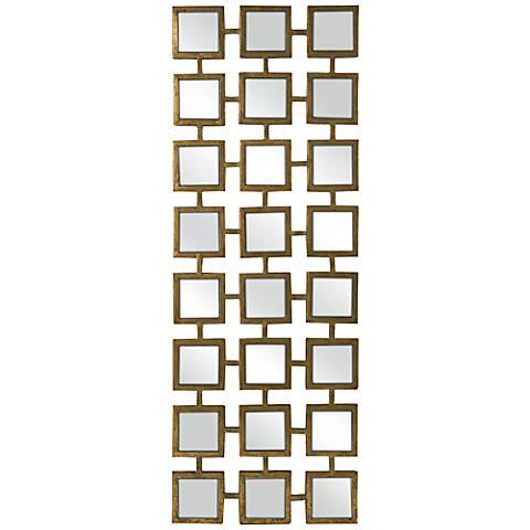 """Kingsley Metal 17 1/2"""" x 39 1/2"""" Rectangular Wall Mirror"""